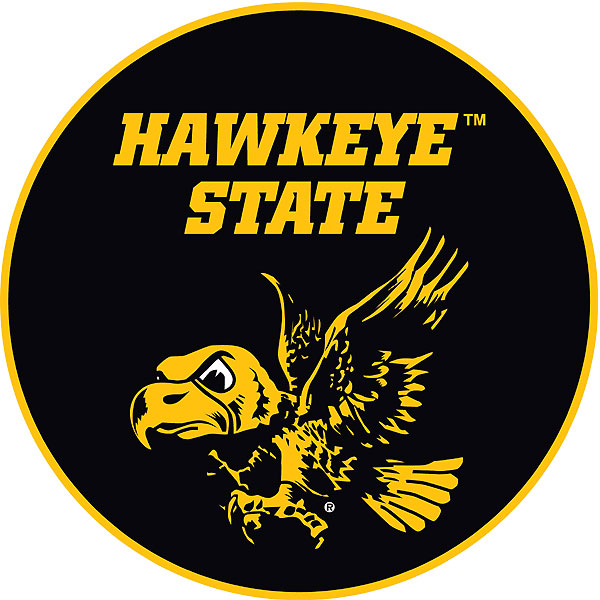 Iowa Hawkeyes Hawkeye State Decal