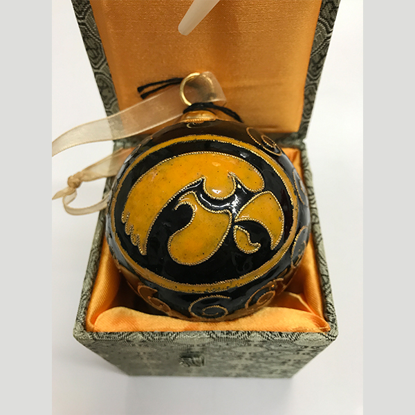 Iowa Hawkeyes Black Ornament