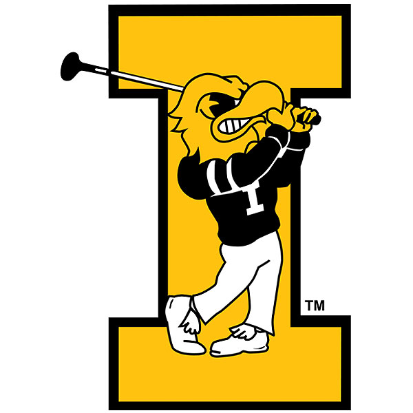Iowa Hawkeyes Golf Decal