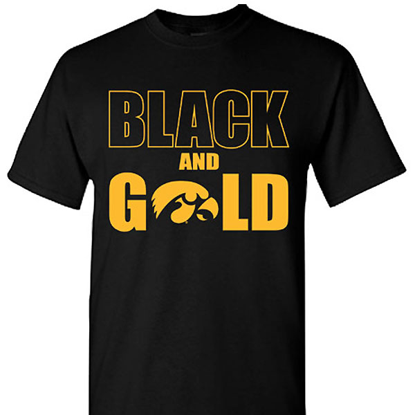 Iowa Hawkeyes Black & Gold Tee