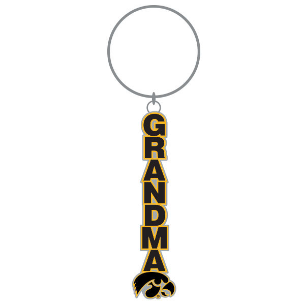 Iowa Hawkeyes Grandma Key Chain