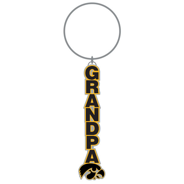 Iowa Hawkeyes Grandpa Key Chain