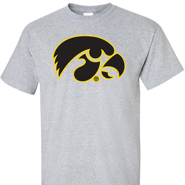 Iowa hawkeyes logo tee for Iowa hawkeye t shirt
