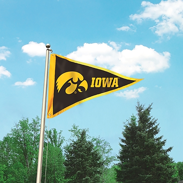 Iowa Hawkeyes Pennant Flag