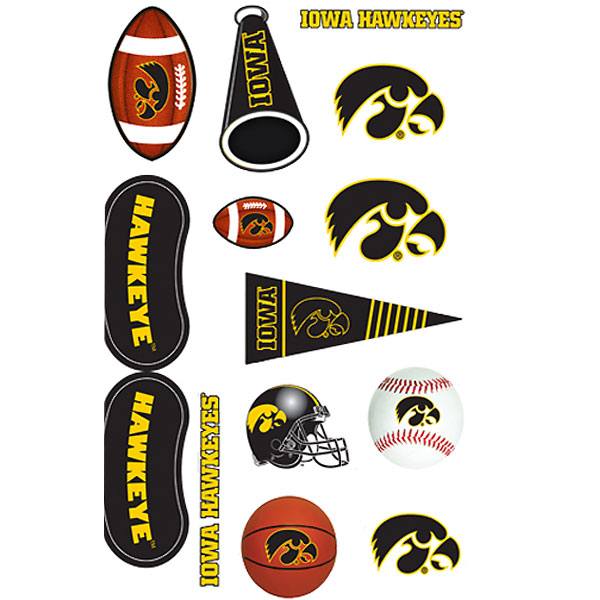 Iowa Hawkeyes Assorted Tattoos