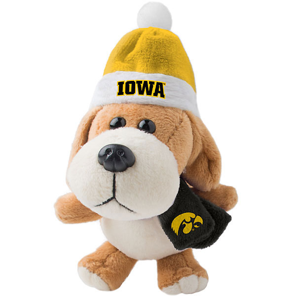 Iowa Hawkeyes Plush Dog Ornament
