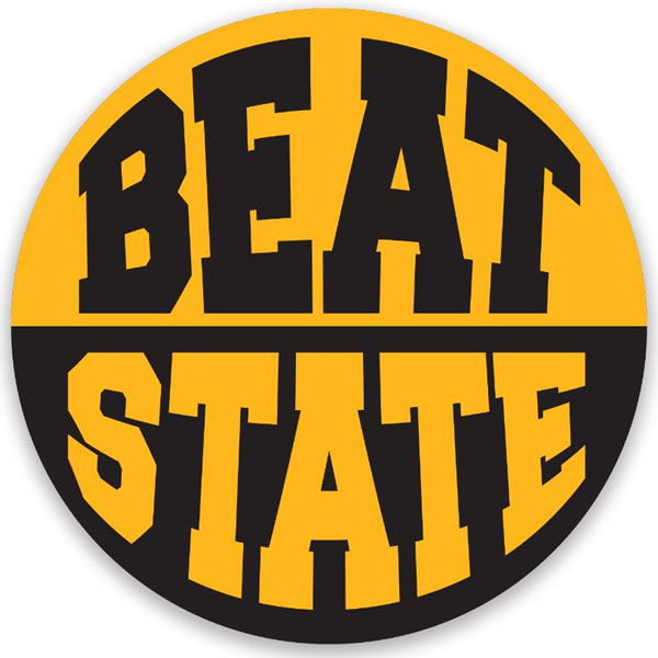 Iowa Hawkeyes Beat State Button