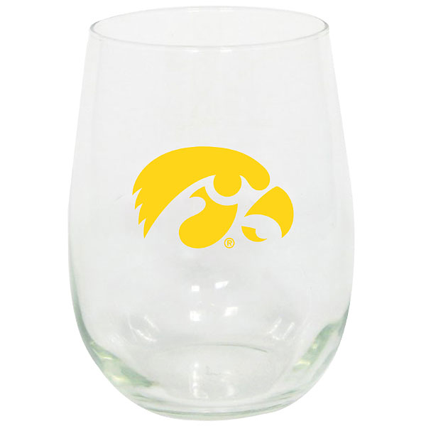 Iowa Hawkeyes Stemless Wine Glass