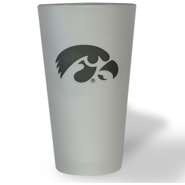 Iowa Hawkeyes Frosted Pint Glass