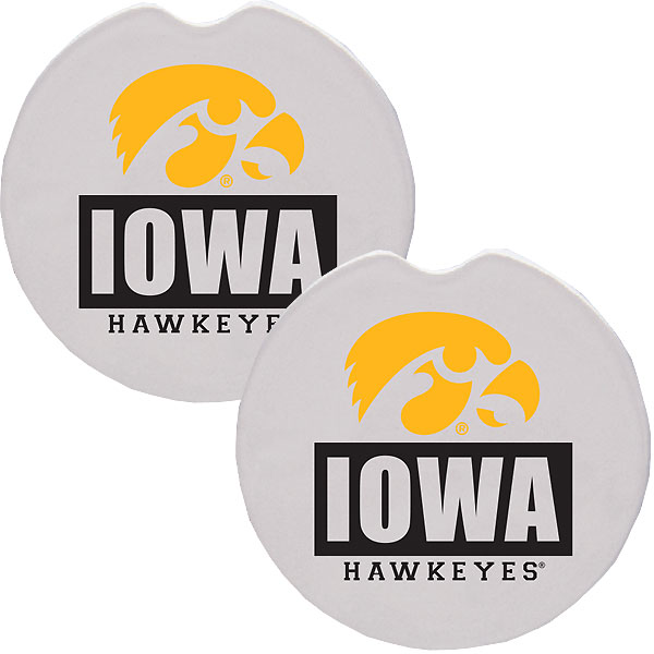 Iowa Hawkeyes Car Coaster Set