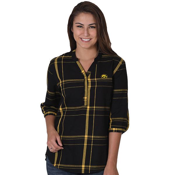Iowa Hawkeyes Women's Plaid Tunic Top