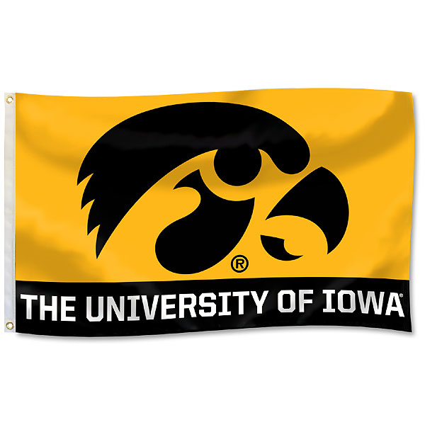 Iowa Hawkeyes 2-Panel Flag