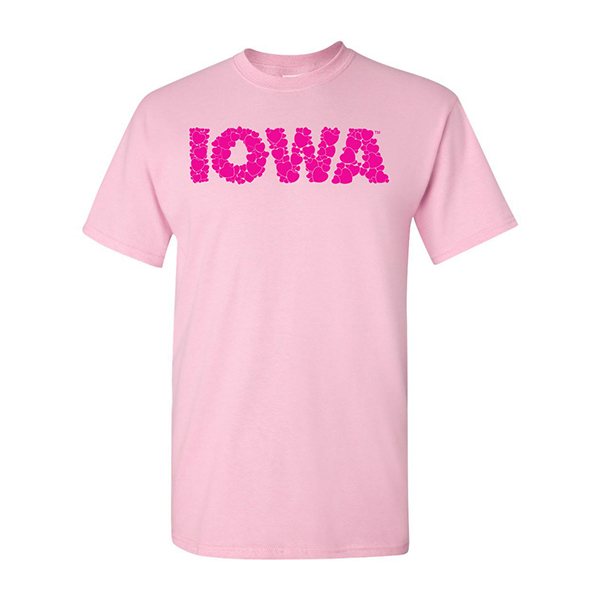 Iowa Hawkeyes Hearts Tee