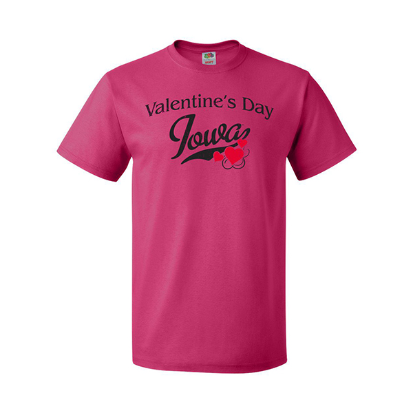 Iowa Hawkeyes Valentine's Day Tee