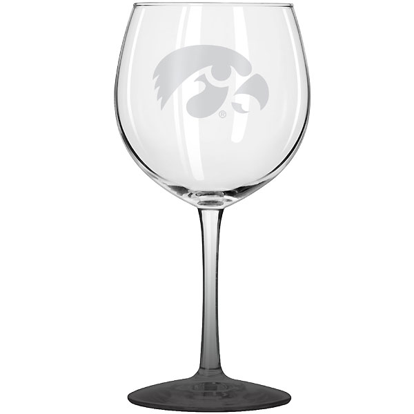 Iowa Hawkeyes Balloon Wine Glass
