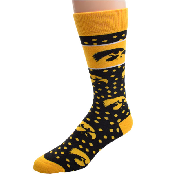 Iowa Hawkeyes Dot Band Socks