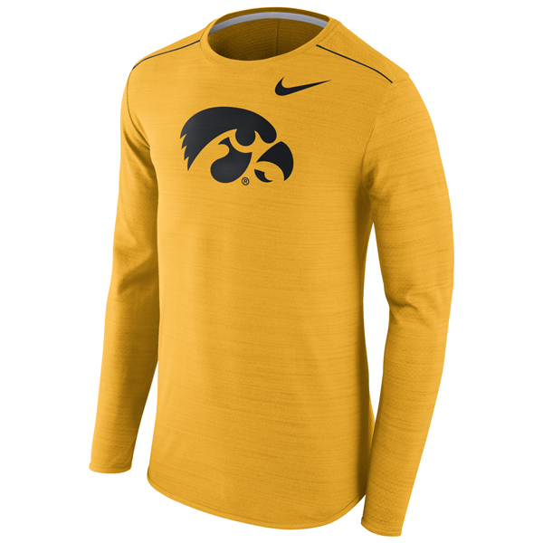 Iowa Hawkeyes Long Sleeve Player Top