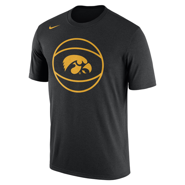Iowa Hawkeyes Basketball Logo Tee