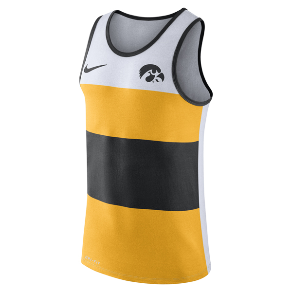 Iowa Hawkeyes Wide Stripe Tanktop