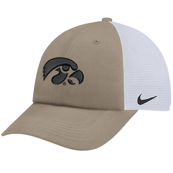 Iowa Hawkeyes Trucker Khaki Hat