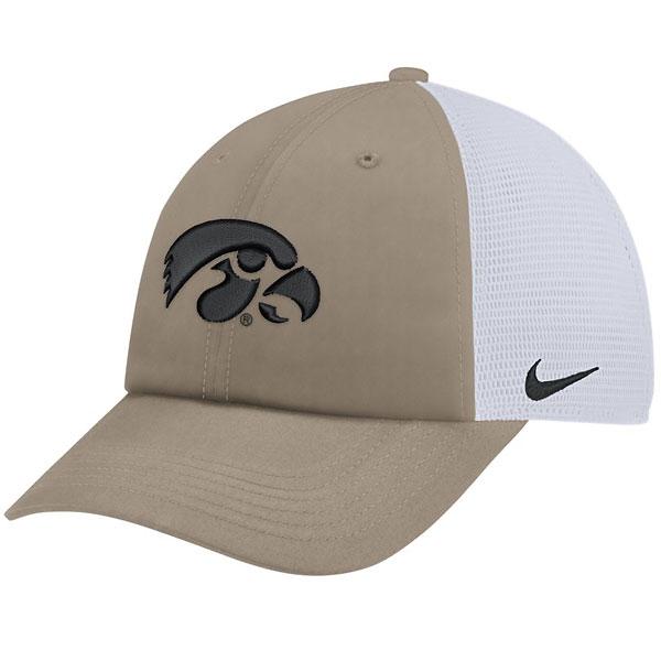 c8350a0a5aa Iowa Hawkeyes Trucker Khaki Hat