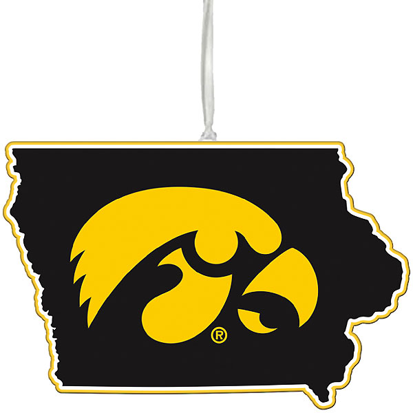 Iowa Hawkeyes State Ornament