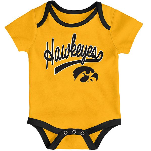 Iowa Hawkeyes Infant Champ 3 Piece Creeper Set