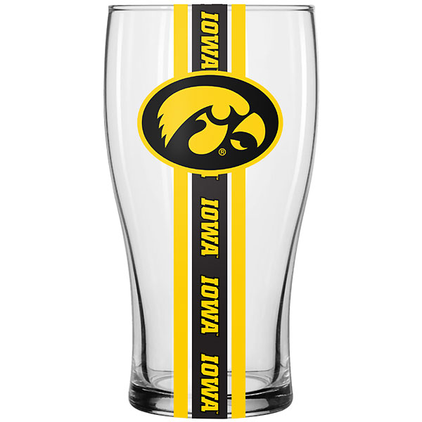 Iowa Hawkeyes Striped Pub Glass