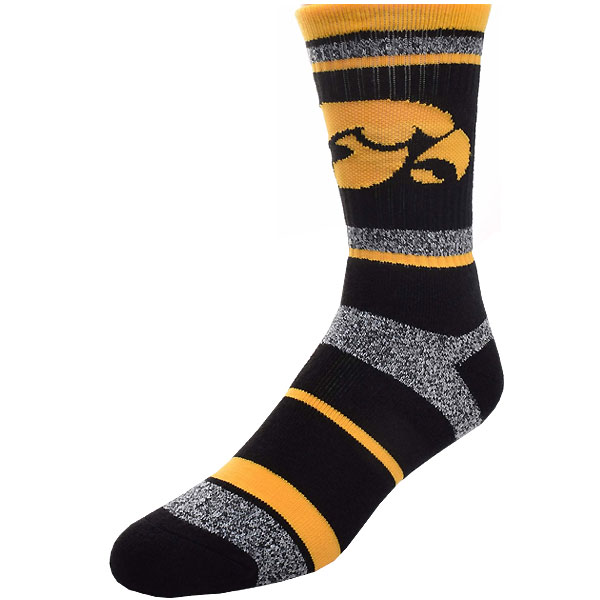 Iowa Hawkeyes Marbled Stripe Socks