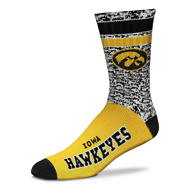Iowa Hawkeyes Retro Deuce Socks