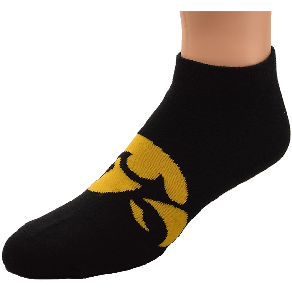Iowa Hawkeyes Logo Sole Name Socks