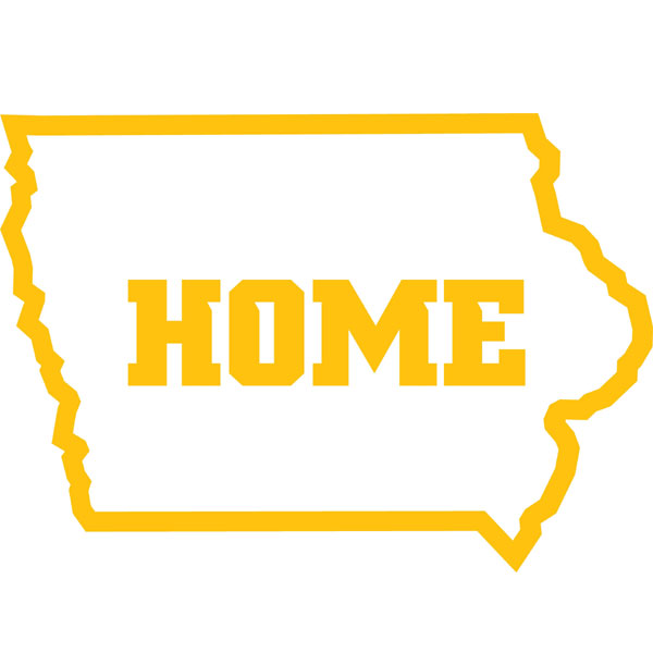 Iowa Hawkeyes Home Decal