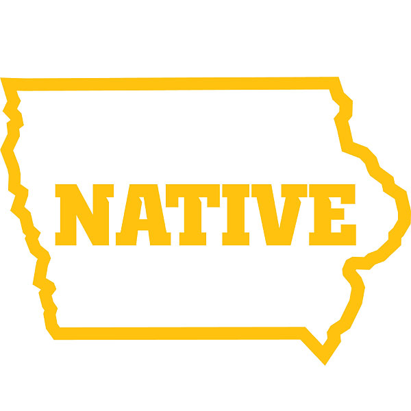 Iowa Hawkeyes Native Decal