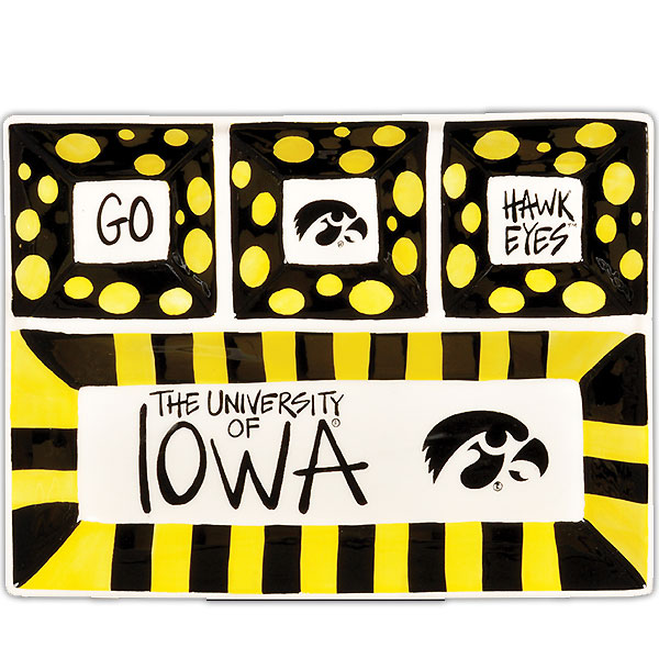 Iowa Hawkeyes 4-Section Platter
