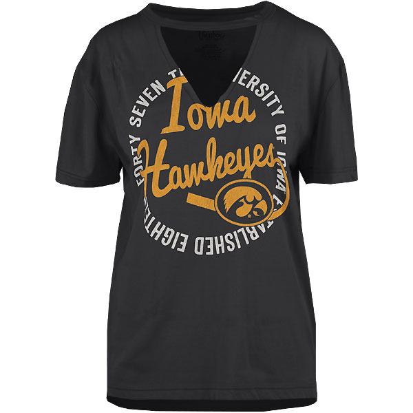 Iowa Hawkeyes Women's Saylor Black Tee