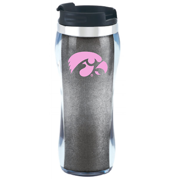Iowa Hawkeyes Hollywood Glitter Tumbler