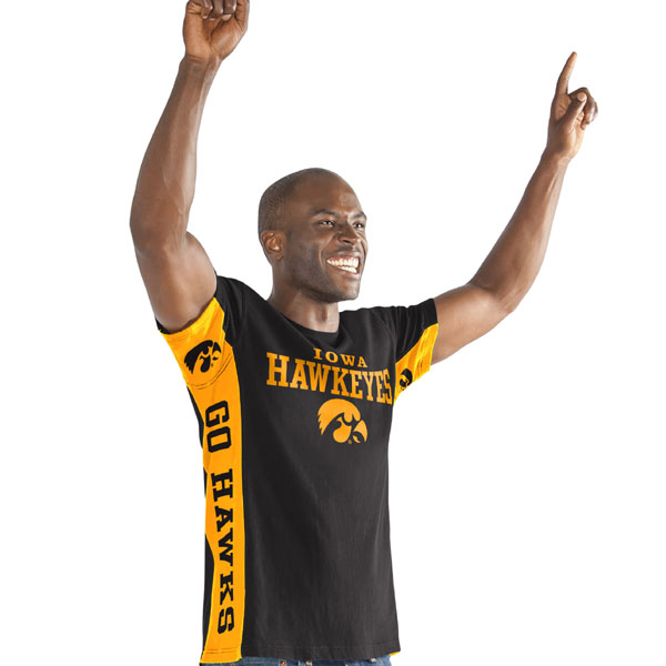 Iowa Hawkeyes Side Bar Tee