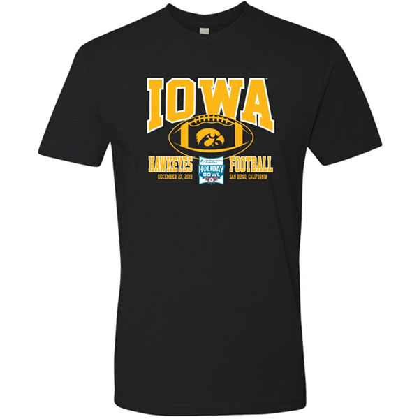 Iowa Hawkeyes Holiday Bowl Black Tee - Short Sleeve