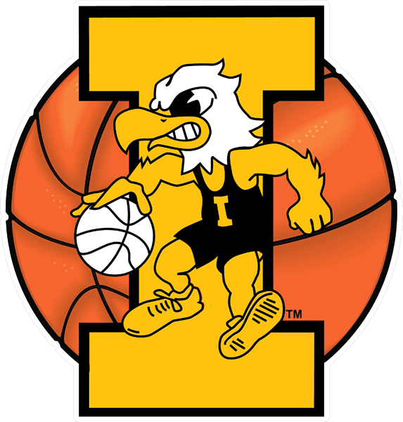 Iowa Hawkeyes Basketball Decal (Mascot)