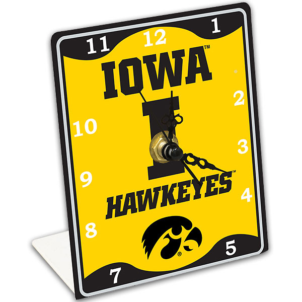 Iowa Hawkeyes Clock