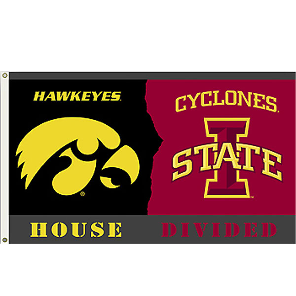 Iowa Hawkeyes 3' x 5' House Divided Flags