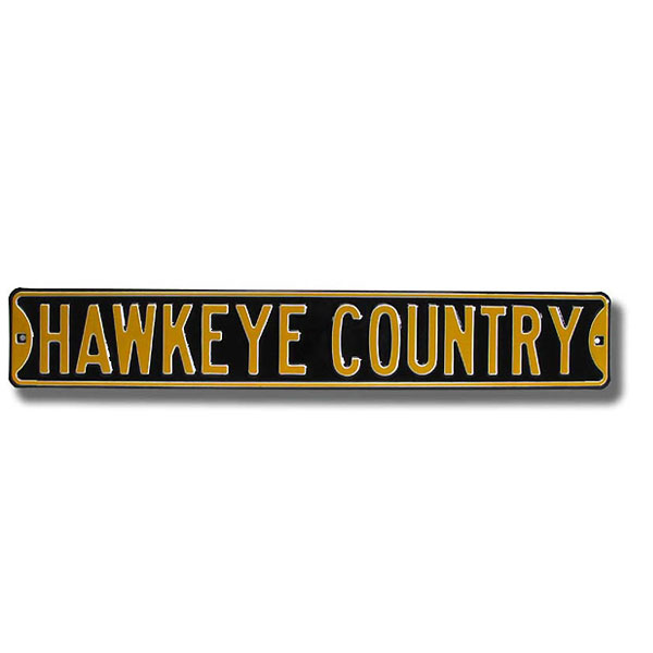 "Iowa Hawkeyes ""Hawkeye Country"" Street Sign"