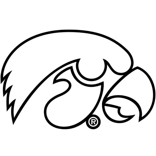 Iowa hawkeyes tiger hawk outline decal