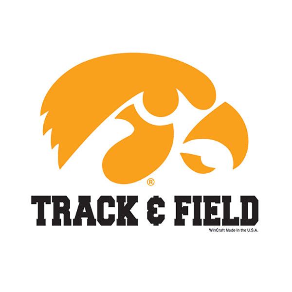 Iowa Hawkeyes Track & Field Decal