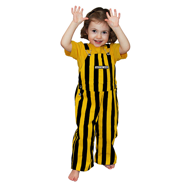 Iowa Hawkeyes Toddler Gameday Bib Overalls