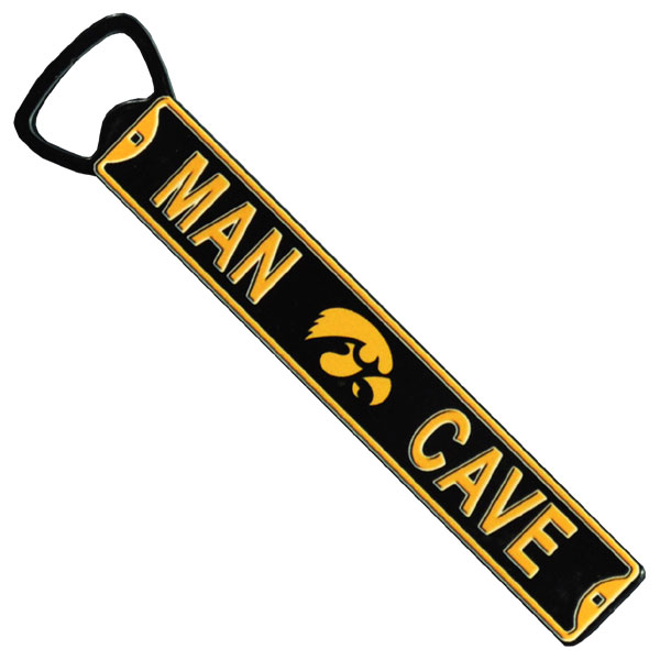 Iowa Hawkeyes Man Cave Bottle Opener