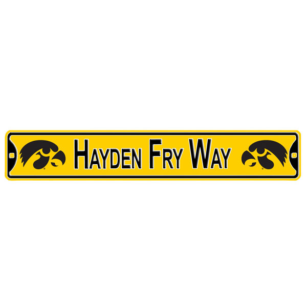 "Iowa Hawkeyes ""Hayden Fry Way"" Street Sign"