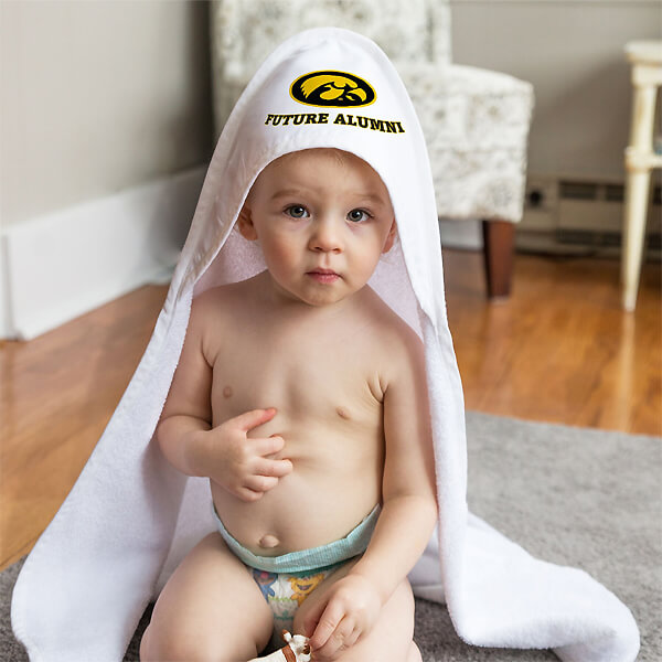 Iowa Hawkeyes Hooded Baby Towel