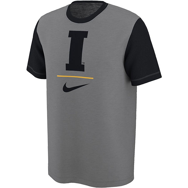 Iowa Hawkeyes Baseball Slub Charcoal Tee