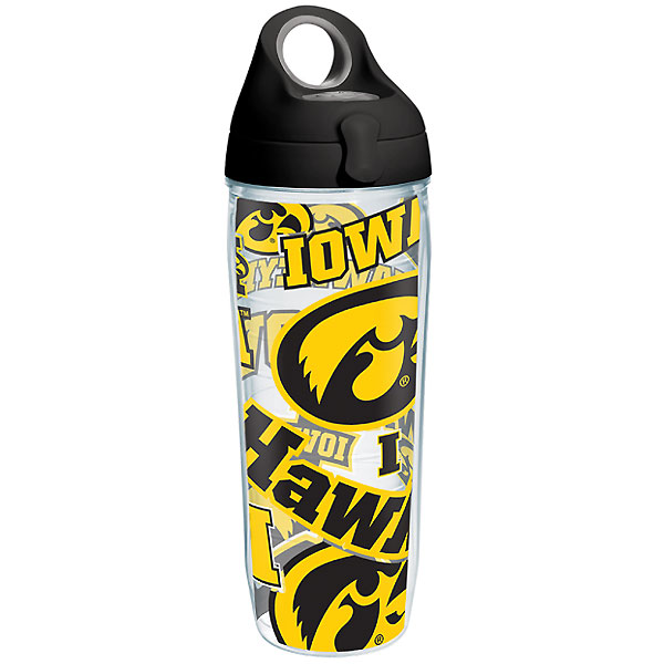 Iowa Hawkeyes All Over Wrap Water Bottle